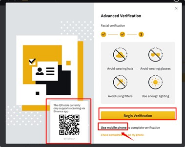 Binance mobile phone verification