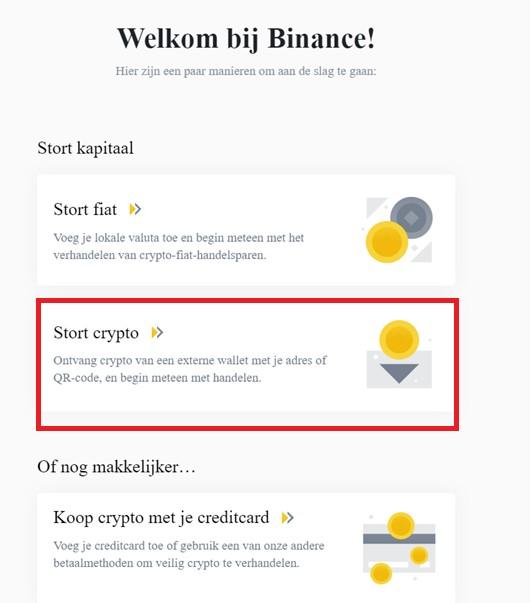 Binance stort crypto
